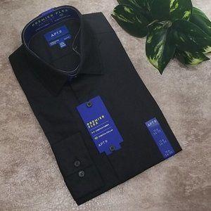 Apt 9 men's black Slim Fit long sleeve button down